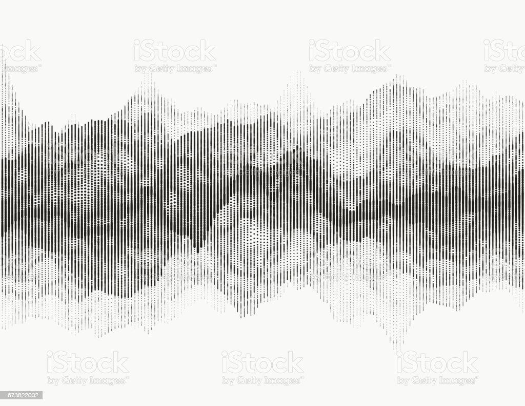 Digital audio visualization vector art illustration