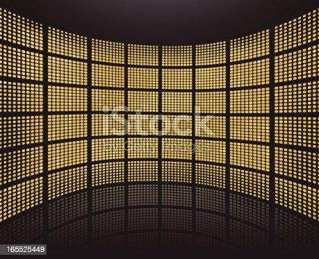 istock Digital backdrop/background - golden 165525449