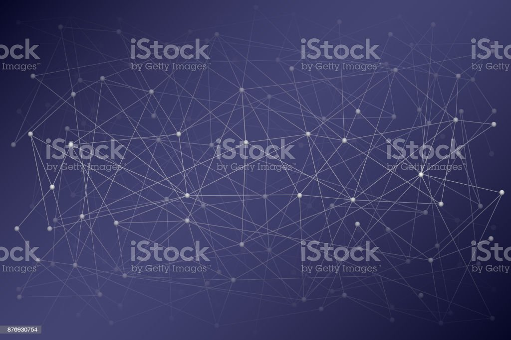 Digital background of Science or Blockchain vector art illustration