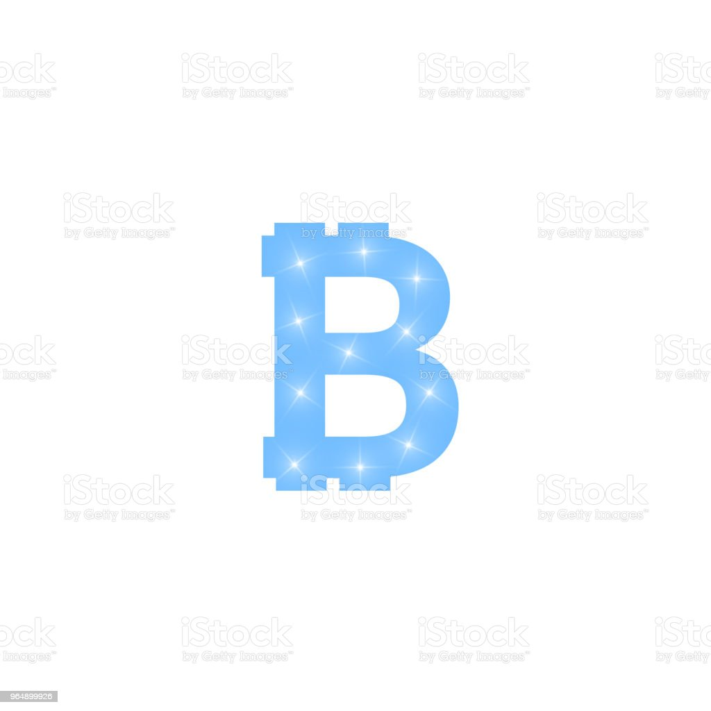 Digital bitcoins symbol with light effect on transparent backgraund royalty-free digital bitcoins symbol with light effect on transparent backgraund stock illustration - download image now