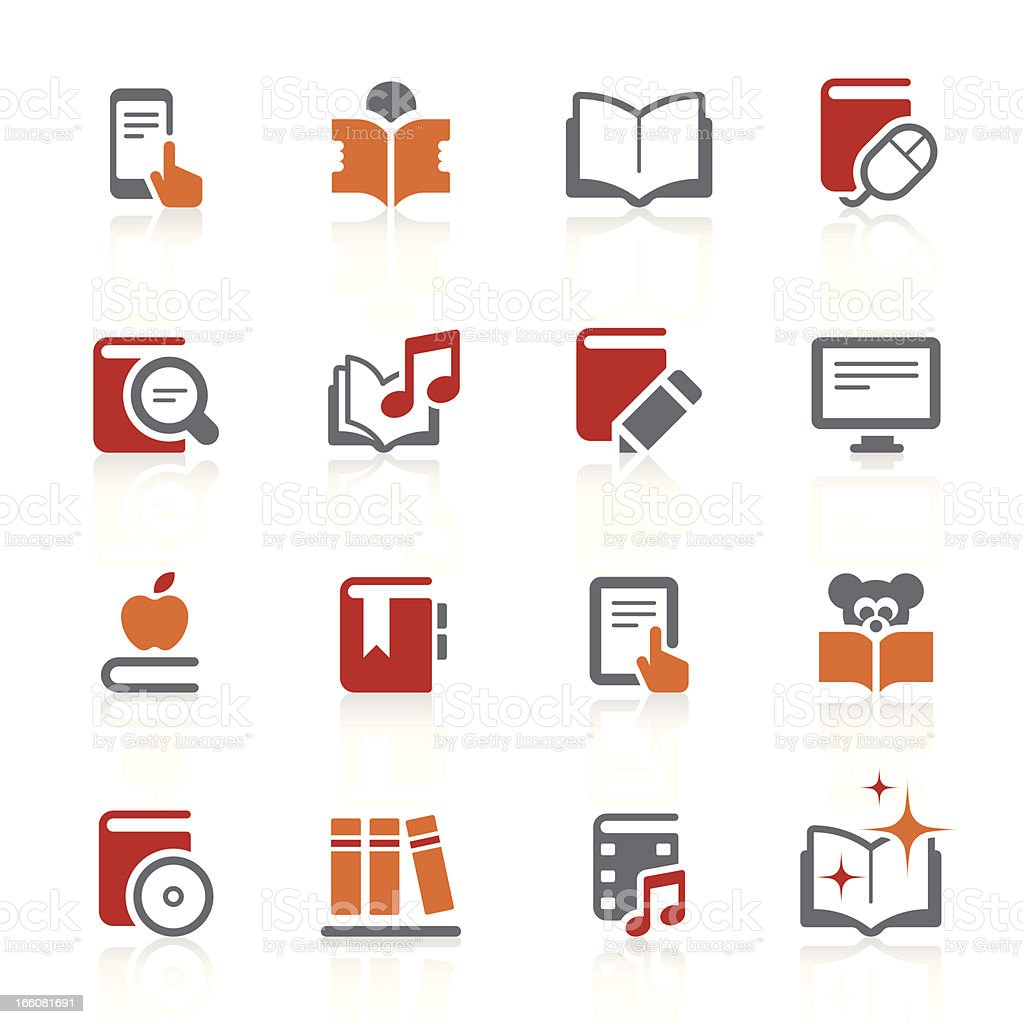 Digital books and literature icons | alto series vector art illustration