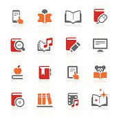 Digital books and literature icons | alto series