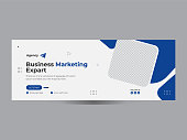 Digital business marketing promotion timeline and social media cover template, Business promotion and corporate social media cover template
