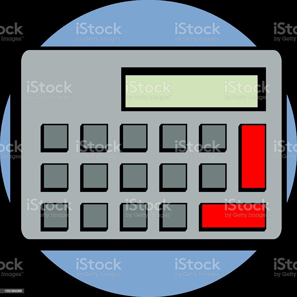 digital calculator royalty-free stock vector art