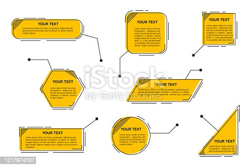 Digital callouts titles. Futuristic callouts template, digital line text frame boxes and callout label set.