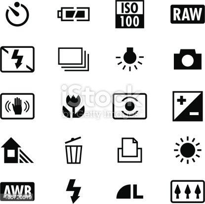 Digital Camera Settings Icons Stock Vector Art & More