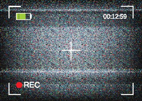 Digital camera viewfinder vector illustration