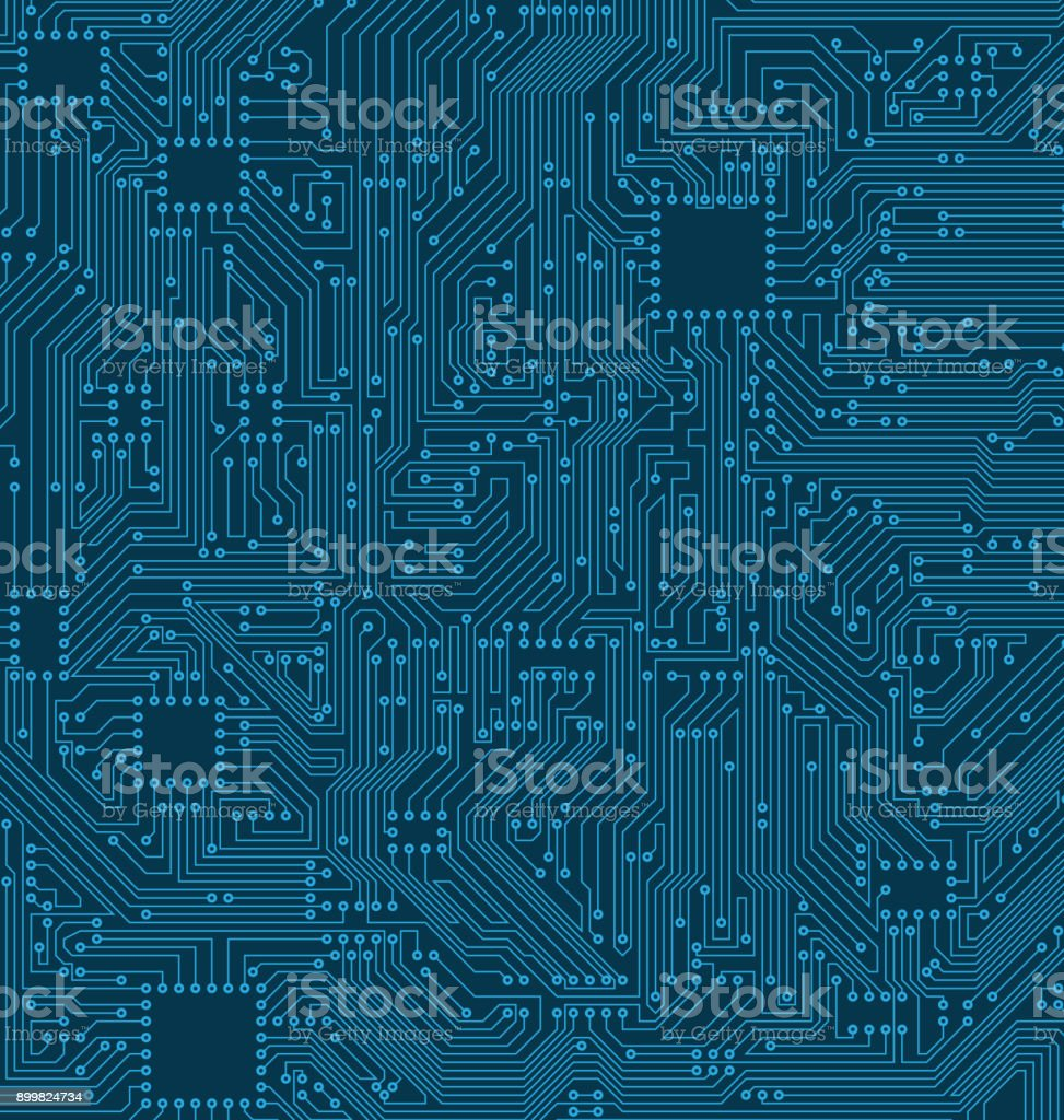 Digital Circuit Background. Texture of Processor, Motherboard - Royalty-free Abstract stock vector