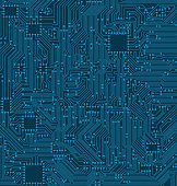 Digital Circuit Background. Texture of Processor, Motherboard - Illustration Vector