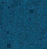 Digital Circuit Background. Texture of Processor, Motherboard