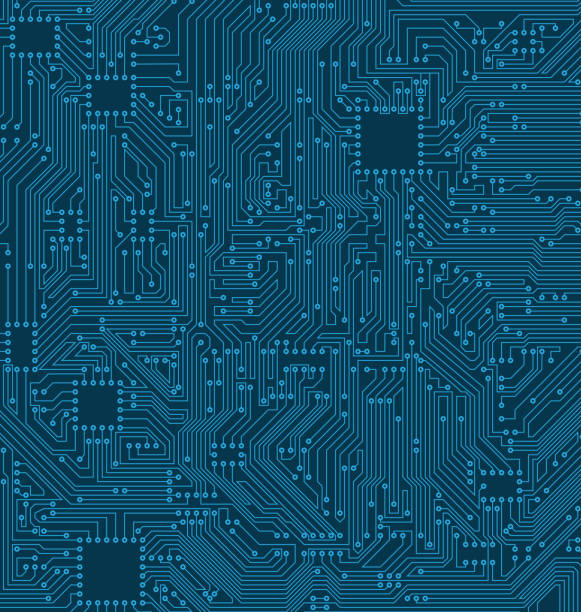 Digital Circuit Background. Texture of Processor, Motherboard Digital Circuit Background. Texture of Processor, Motherboard - Illustration Vector computer chip stock illustrations