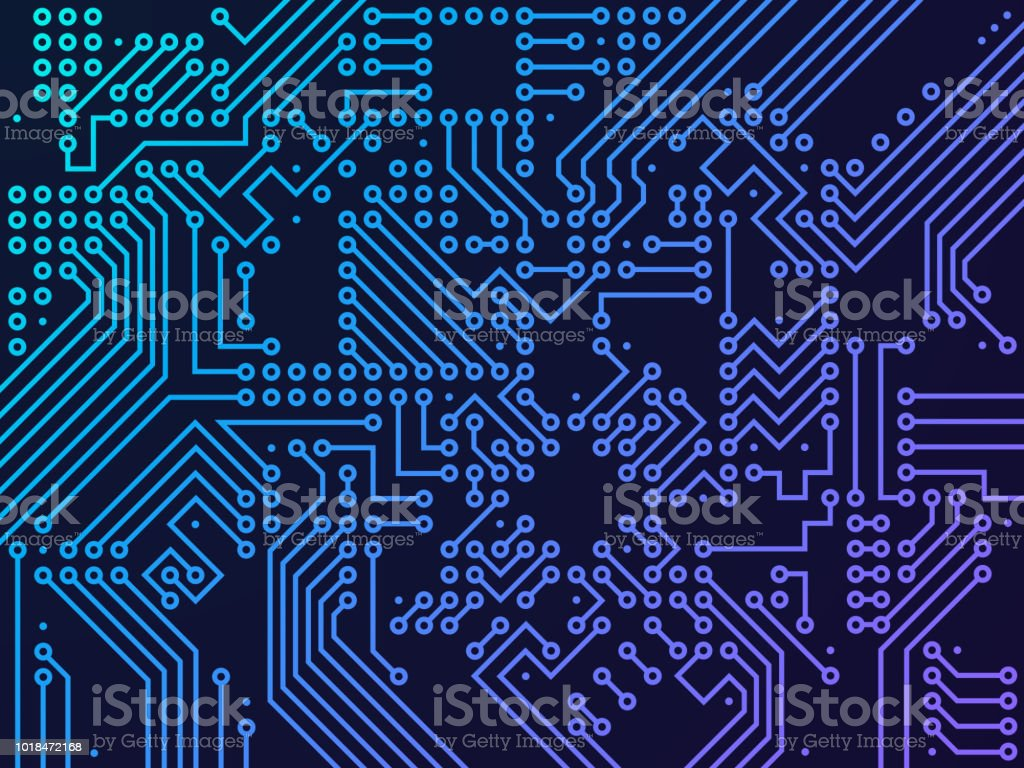 Digital Circuit Board Stock Vector Art More Images Of Abstract Binary Code On Royalty Free Amp