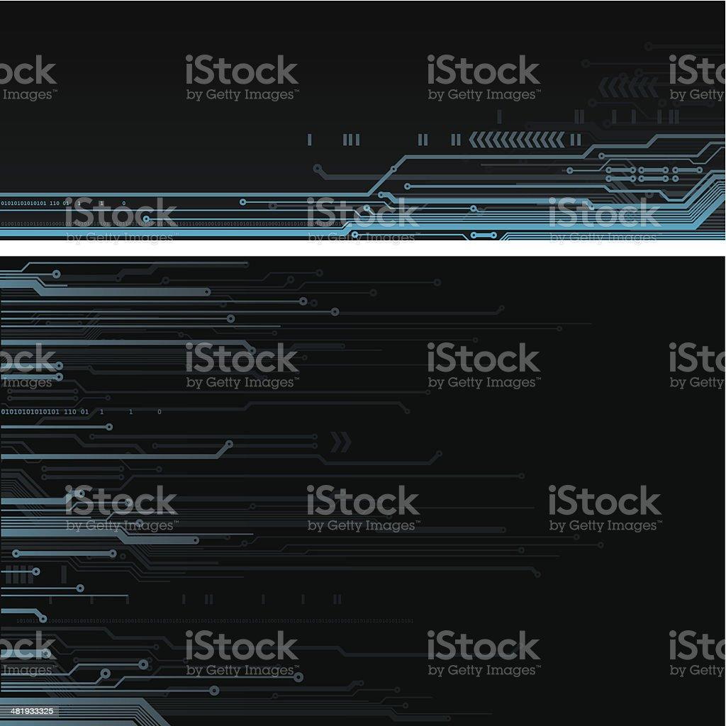 Digital ciruit backgrounds royalty-free stock vector art