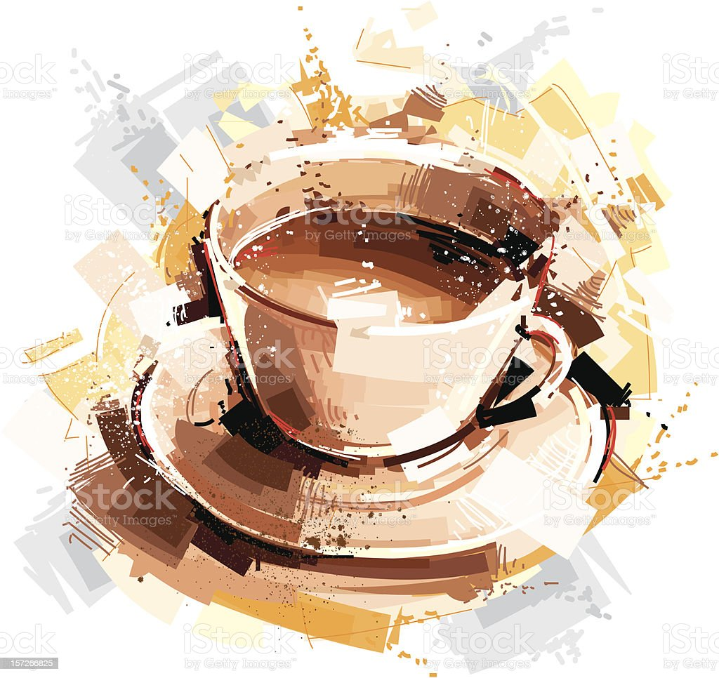 digital coffee sketch royalty-free stock vector art
