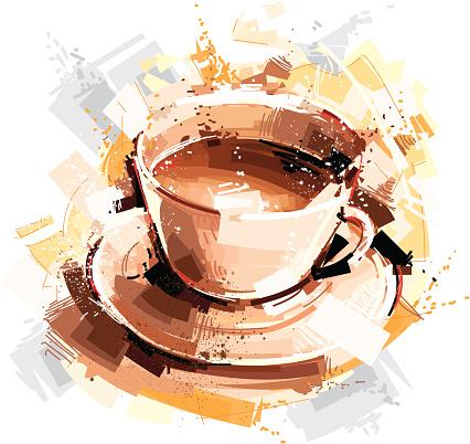 digital coffee sketch