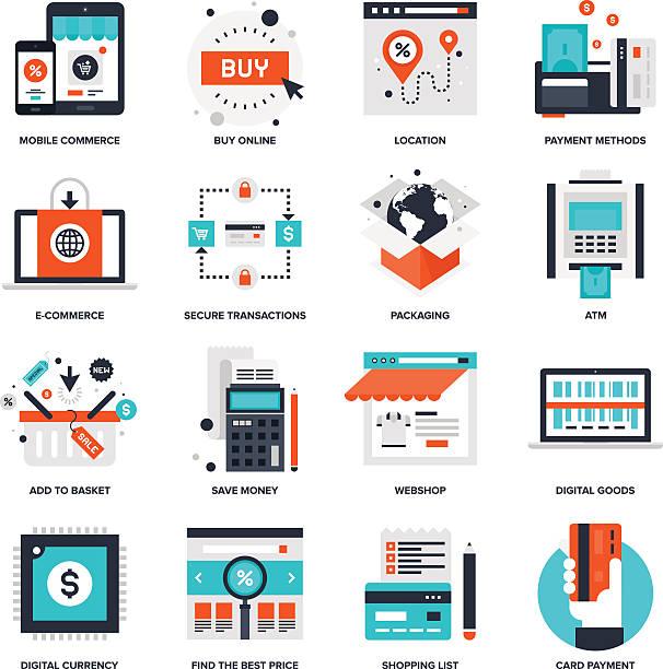 Digitale Commerce – Vektorgrafik