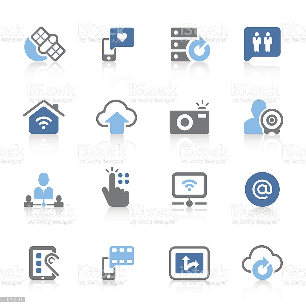 Digital communication icons | azur series royalty-free stock vector art