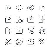 Digital Communications Icons set 2 | Black Line series