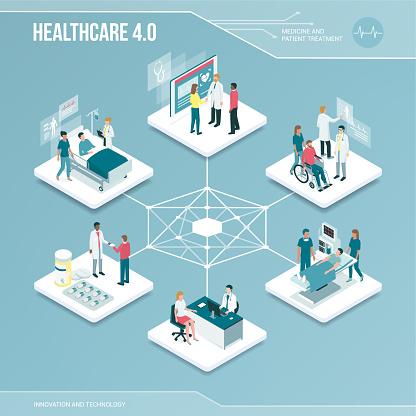 hospital infographics stock illustrations