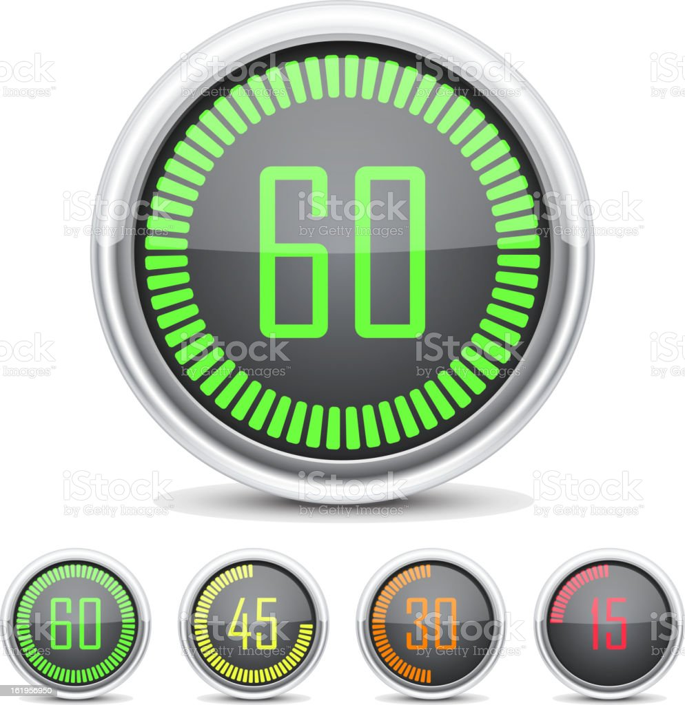 Digital Countdown Timer royalty-free stock vector art