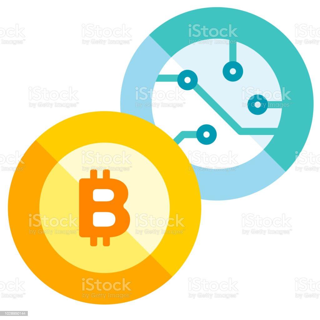 Digital Currency Flat Illustration Stock Illustration - Download Image Now