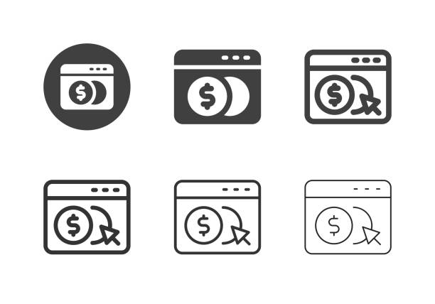 Digital Currency Icons - Multi Series vector art illustration