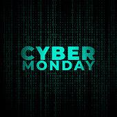 digital cyber monday technology style background design
