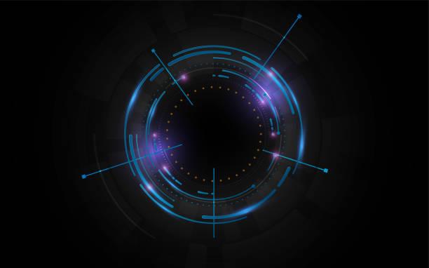 digitalen Cyber Muster Tech Innovation Konzept Vorlagenhintergrund – Vektorgrafik