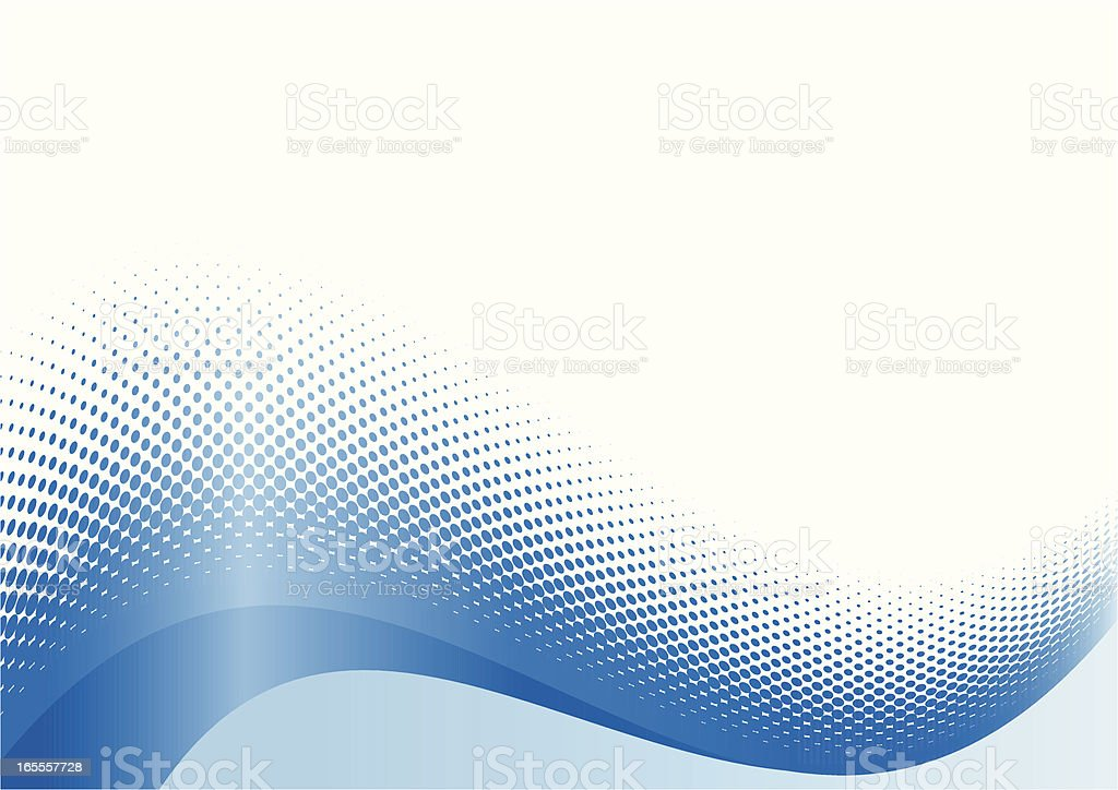 Digital depiction of a blue wave  royalty-free stock vector art