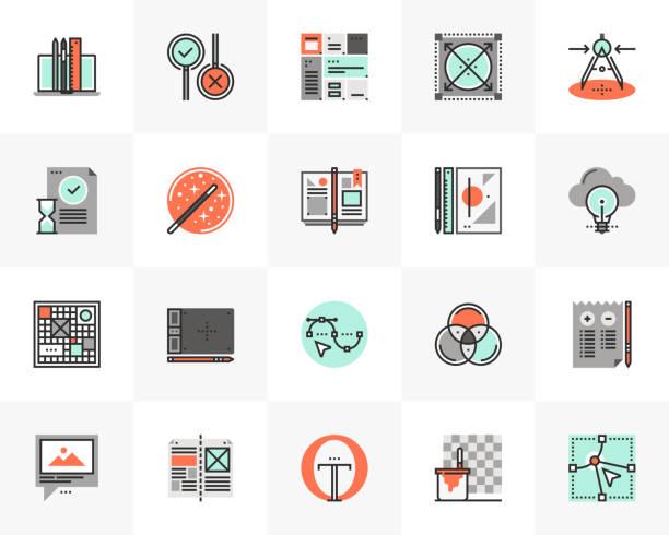 Digital Design Futuro Next Icons Pack vector art illustration