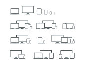 Digital devices icons,vector illustration. EPS 10.