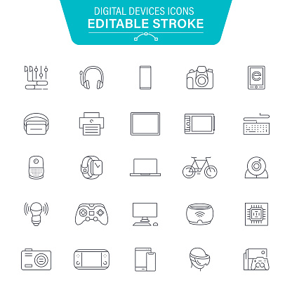 Digital Devices Line Icons