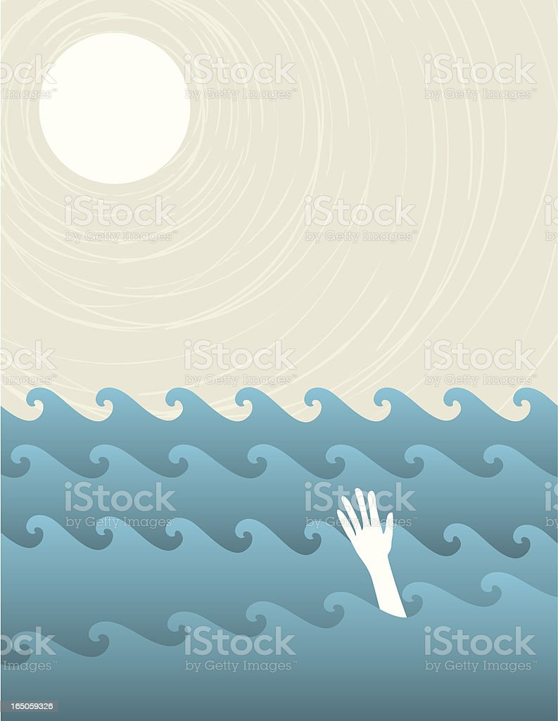 Digital drawing of a man drowning royalty-free digital drawing of a man drowning stock vector art & more images of blue