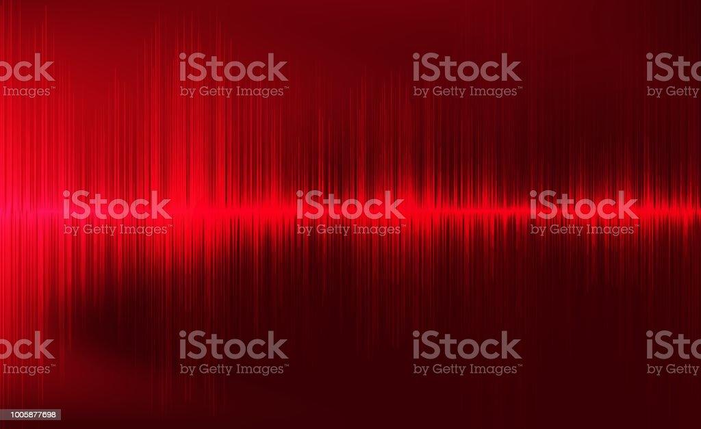 Digitalen Erdbeben Welle Auf Dunkelroten Hintergrund Schallwelle ...
