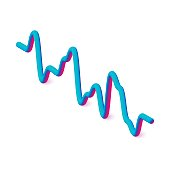 3D Digital energy sound music equalizer. Isometric vector illustration.