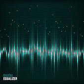 Digital equalizer. Vector illustration.
