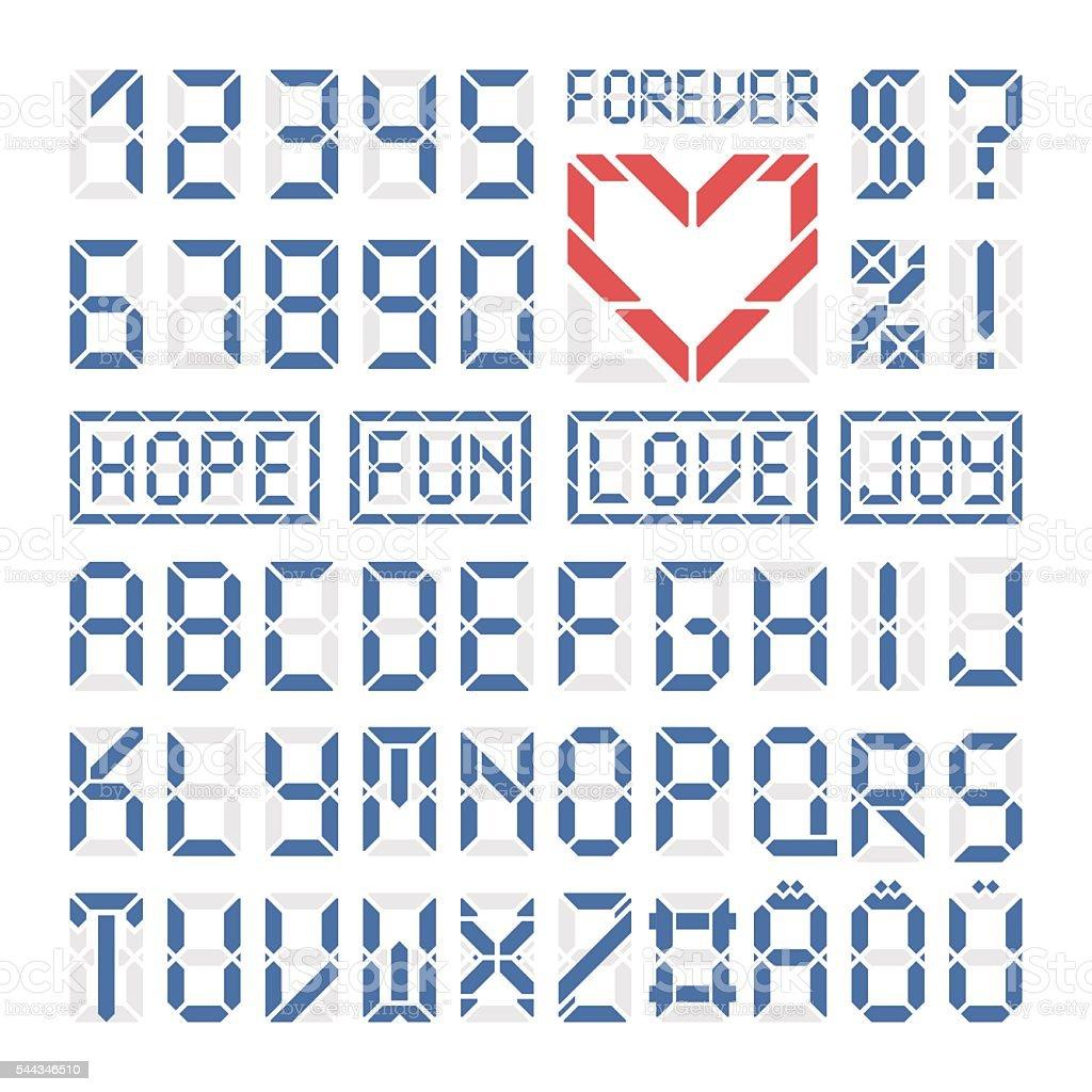 Carattere Digitale Latino Alfabeto Lettere E Numeri Immagini Vettoriali Stock E Altre Immagini Di Alfabeto Istock