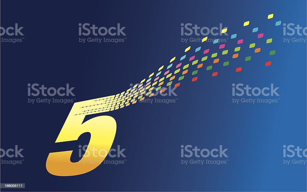 Digital Formation Five royalty-free stock vector art