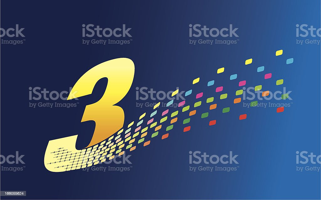 Digital Formation Number Three royalty-free digital formation number three stock vector art & more images of anniversary