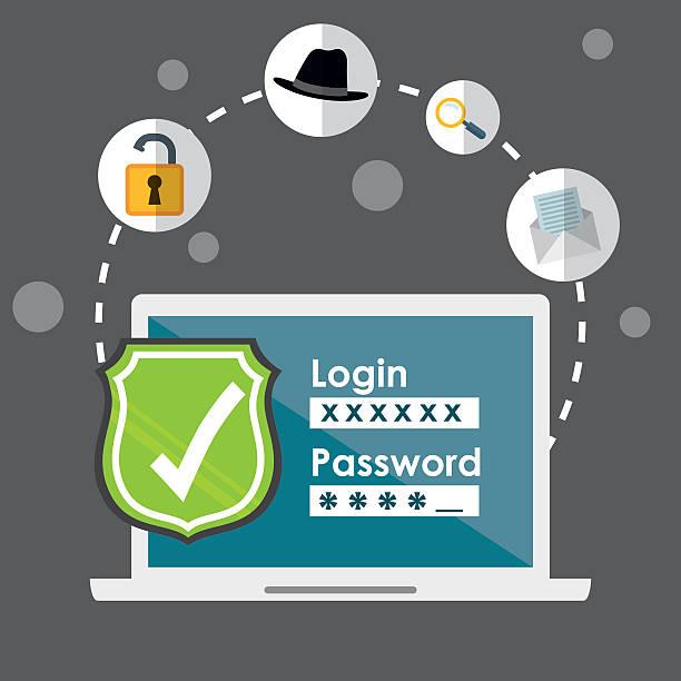 ilustrações, clipart, desenhos animados e ícones de digital fraude e técnicas de hacking design - roubo de identidade