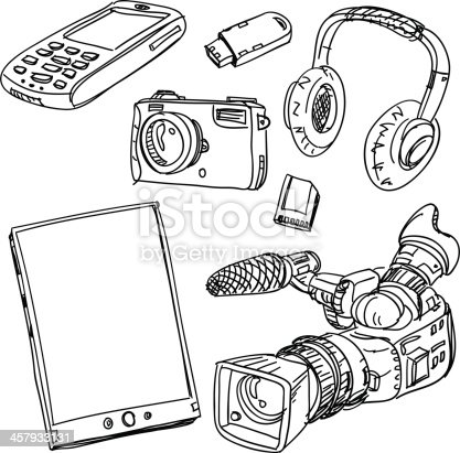 istock Digital gadget collection 457933131