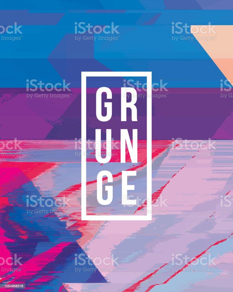 Digital Glitch Distorted Zebra Pattern Abstract Grunge Background