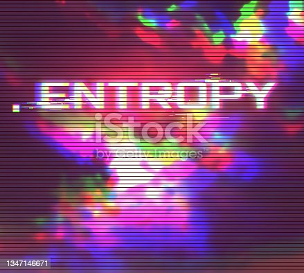 istock Digital Glitch Effect Vector Abstract Background. Dynamic Vivid Color Striped Conceptual Illustration 1347146671