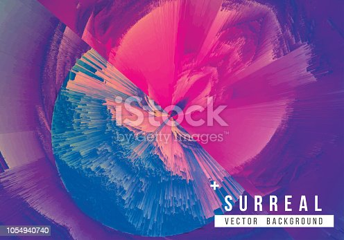 istock Digital Glitch Whirling Blast Abstract Grunge Background 1054940740