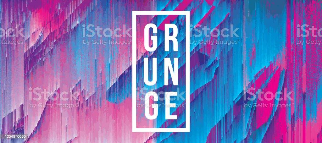 Digital Glitch Zebra Print Abstract Grunge Background