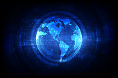 digital global simulation technology, satellite abstract background vector