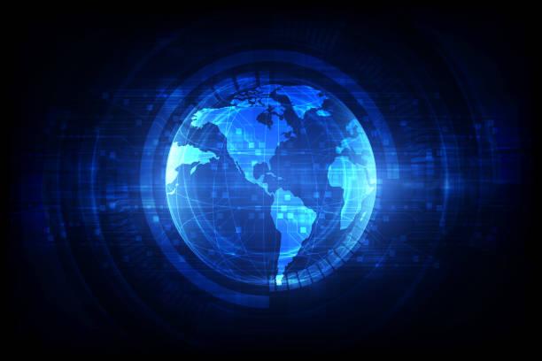 數位全球模擬技術, 衛星抽象背景向量 - 國際比賽 幅插畫檔、美工圖案、卡通及圖標