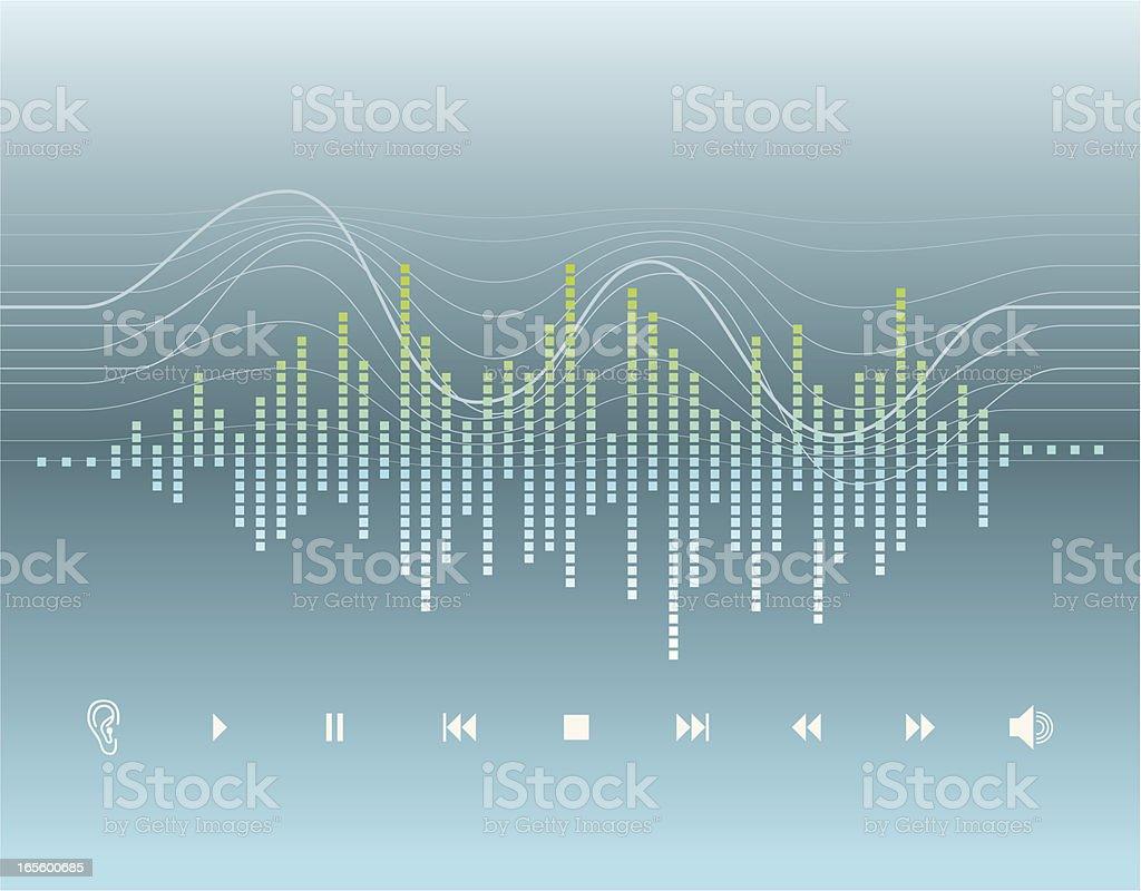 Digital Graphic - Sound Wave vector art illustration
