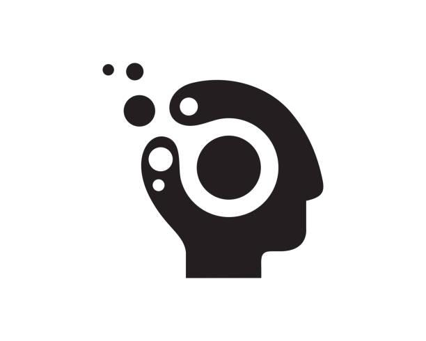 digitalen kopf vorlage design vektor, emblem, designkonzept, kreativen symbol, symbol - arbeitsvermittlung stock-grafiken, -clipart, -cartoons und -symbole
