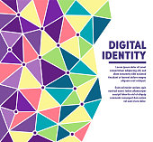 Digital identity geometric polygon background illustration for marketing. Modern abstract vector illustration design for your business or campaign.